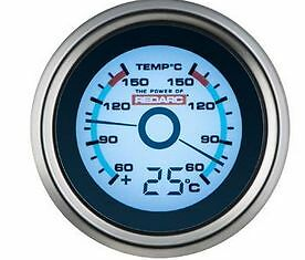 Redarc G52-Ttt Dual Temperature 52Mm Gauge With Optional Temperature Display