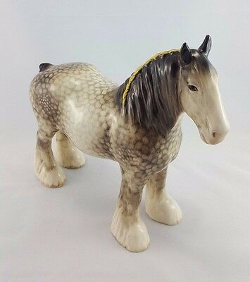 Rare Beswick 818 Rocking Horse Grey Shire