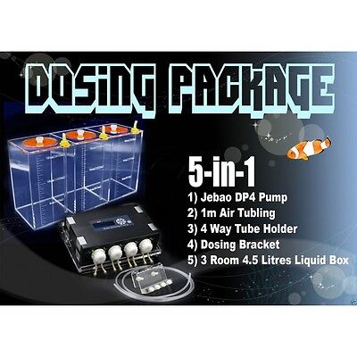 Jebao Auto Dosing Pump 5 in 1 Kit. DP-4 Aquarium Reef Marine