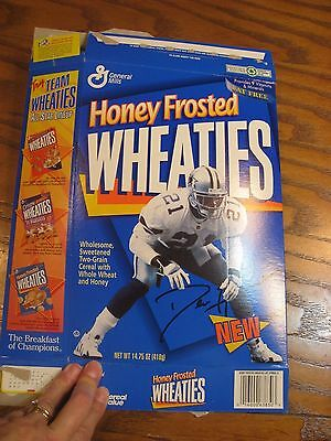 Honey Frosted Wheaties Deion Sanders - Limited Edition Empty Cereal Box 1996