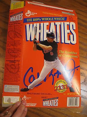 Wheaties Cal Ripkin Jr. - Limited Edition Empty Cereal Box 1996