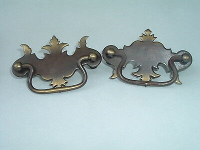 Pair of Vintage Victorian Brass Drawer Pull Knobs Beautiful Condition • CAD $37.00