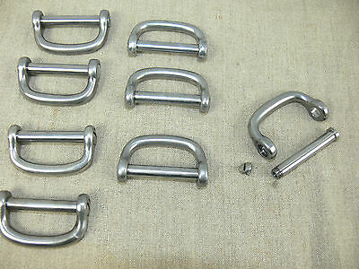 LOT DE 8 MANILLES INOX pour SANGLE de 40 mm  LOT 8 STAILESS STEEL SHACKLES