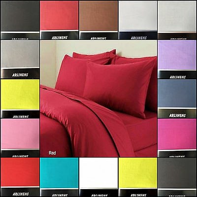 Plain Duvet/Quilt Cover Bedding Set with Pillowcases Fine Quality in all Sizes