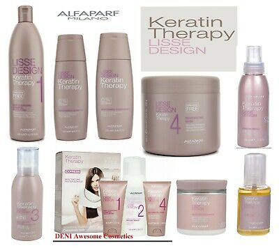 ALFAPARF Lisse Design Keratin Therapy (Kit,Mask,Shampoo,Oil,Cream,Conditioner)