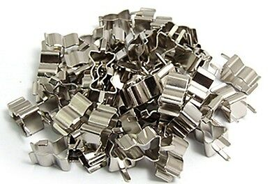 100x FUSE CLIP HOLDERS FOR 5 x 20mm FUSE TUBE GLASS BRAND NEW
