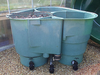 Used kockney koi 20000 fibreglass multibay filter fish for Used fish pond filters