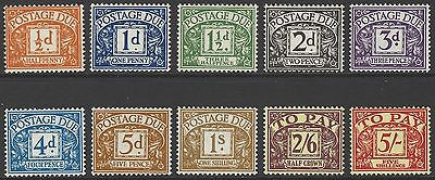 GB 1955-57 postage due set of 10, mint MNH, SG#D46-D55 (incl variety SG#D48wi)