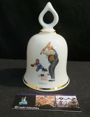 Norman Rockwell ceramic bell Batter Up Danbury Mint 1979 Limited Edition