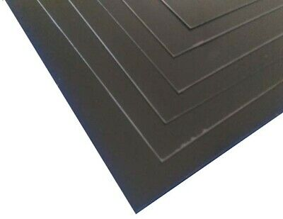 Black Plasticard Matt/Gloss High Impact Polystyrene HIPS A5 to A3, 0.5mm to 3mm