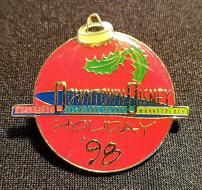 Retired 1998 Wdw Downtown Disney Holiday '98 Christmas Ornament Pin