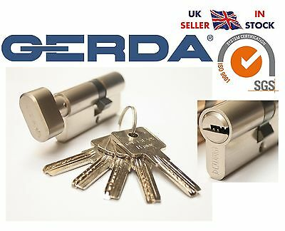 Gerda High Quality Euro Profile Cylinder Door Lock Barrel 5Keys HPlus Thumb Turn