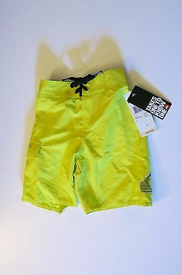 Quiksilver Boys Toddler 3/3T Board Shorts Neon Bright Yellow Stomping U Beach