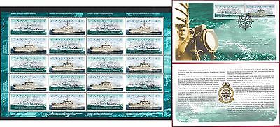 1998 CANADIAN NAVAL RESERVE --- Canada 1763a sheet + FDC --- CV $36+