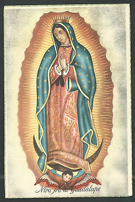 Postal antigua Virgen de Guadalupe andachtsbild santino holy card santini