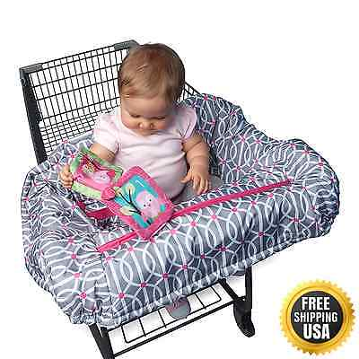 Boppy Shopping Cart and High Chair Cover Park Gate Pink New