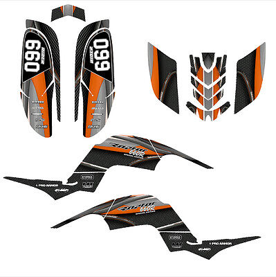 Raptor 660 graphics Yamaha 660R decal sticker kit #5600 Orange
