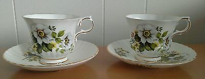 Two Royal Sutherland Fine Bone China Coffee Cup And Saucers. 2Nds