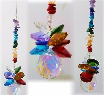 chakra crystal suncatcher- 20mm ball-feng shui rainbow healing gemstone gift