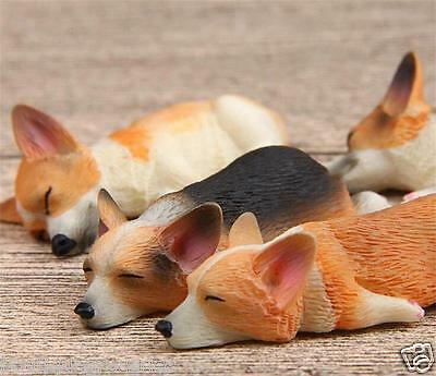 4pcs New Lovely Welsh Corgi Pembroke Model MINI Action Figure DIY Fridge Magnets