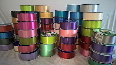 10M Of 50mm Florist Ribbon For Wedding Cars-Bows-Floral Work-Crafts Many Colours