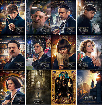 12pc Fantastic Beasts and Where to Find Them 2016 Postcard Promo Card Collector