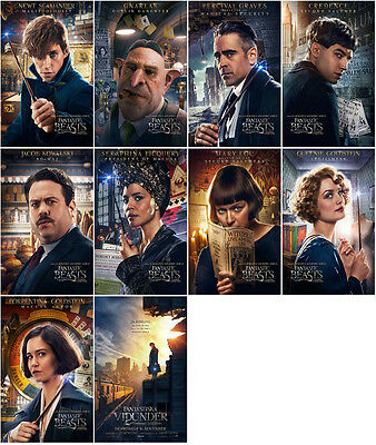 10 Fantastic Beasts and Where to Find Them Promo Card PVC PLASTIC CHARACTOR CARD