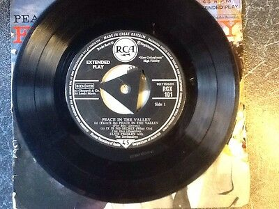 Elvis Presley EP Peace In The Valley, Double Laminate Sleeve, Triangle Centre