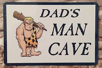 Man Cave Sign Wall Plaque Ideal Gift Fathers Day Garage