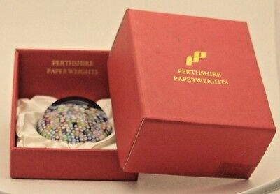 Gorgeous PERTHSHIRE Art Glass CLOSE Pack MILLEFIORI Multicolor PAPERWEIGHT Boxed
