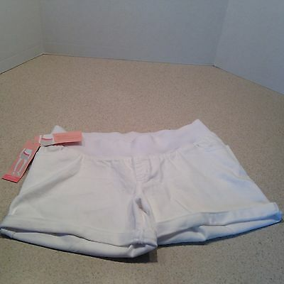 NEW LIZ LANGE Maternity White Denim Shorts-Under the Belly
