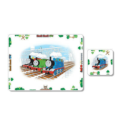 Portmeirion Thomas Tank Cork Back Child Kids Table Placemat & Coaster Set Gift