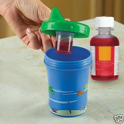 NEW The Medicine Dispensing Sippy Sure Cup BlueGreen KIDS CHILDREN TODDLER BABY