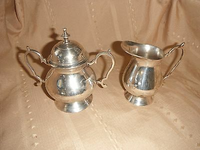 vintage set stainless cream and sugar epns india
