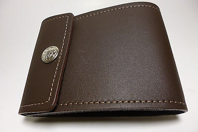 North Star Brown End Stub Genuine Leather Checkbook Cover Made In USA#134