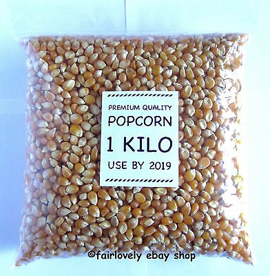 1 KILO Sealed Pack Popcorn Pop Corn Maize Seeds Raw Popping Kernels No.1 Quality
