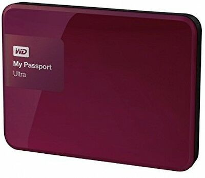 WD 2TB Berry My Passport Ultra Portable External Hard Drive - USB 3.0 -