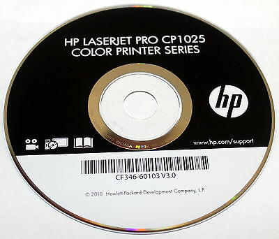 Hp Laseret Pro Cp1025 Color Printer Series Driver Install Cd-Rom Cf346-60103