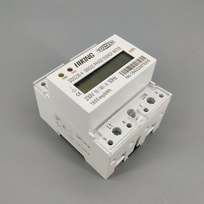 10(40)A 230V 50HZ Single phase Din rail KWH Watt hour din-rail energy meter LCD