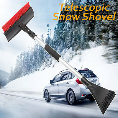 Snow Shovel Brush Long Reached Extendable Ice Scraper Snow Remover Car Cleaning