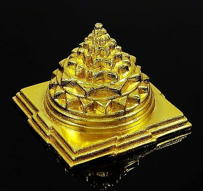 Indian Maha Meru Yantra Brass Vastu Correction & Prosperity Feng Shui Spiri 7213