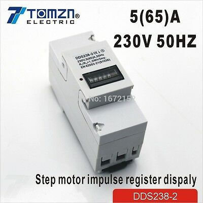 5(65)A 230V 50HZ Single phase Din rail KWH Watt hour din-rail energy meter