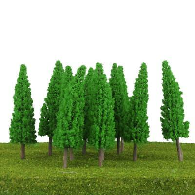 20x Jade Green Model Trees Train Railway Layout HO SCALE Scenery 11cm Tall