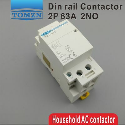 CT1 2P 63A 220V/230V 50/60HZ Din rail Household ac contactor 2NO