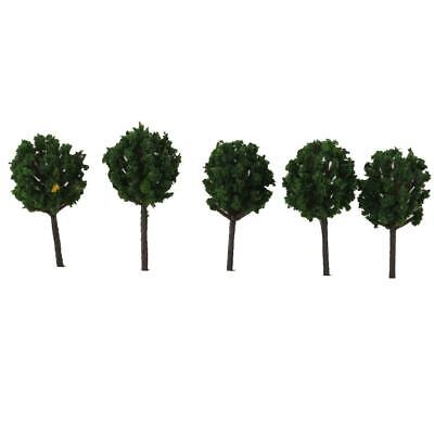 50x Z SCALE Model Tree Train Railway Building Park Street Scenery Layout 4cm