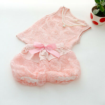 Floral Pink Girls Top and Shorts Pearl Necklace 2 Piece. FREE UK shipping!