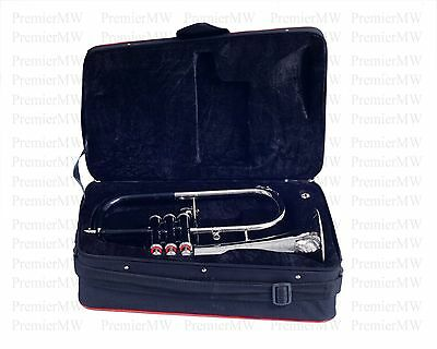 Flugel Horn Bb For Sale Black + Nickel Plated With Free Hard Case + MouthPiece