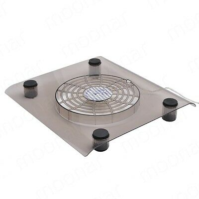 """12"""" Inch USB 2.0 Plug Cooling Silent Fan Cooler Pad Clear For Notebook Laptop PC"""