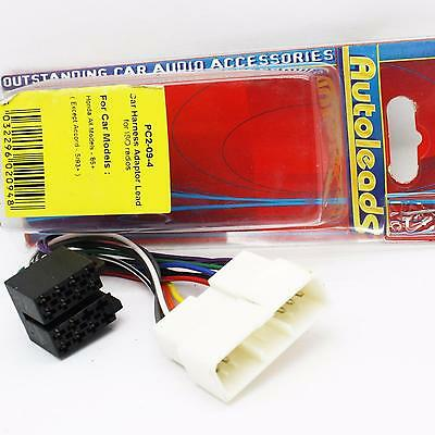 Autoleads PC2-09-4 Honda Car stereo ISO wiring harness adaptor leads PC2094