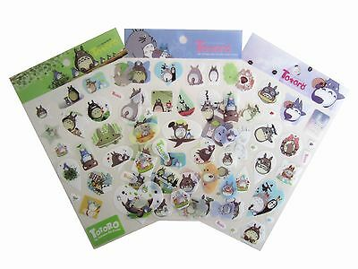 Studio Ghibli My Neighbour Totoro Stickers Scrapbook Diary Book Decoration 3PCS